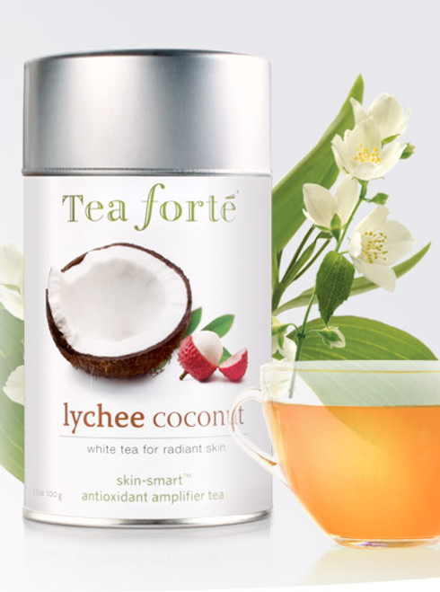 Rare white tea with the exotic tropical notes of sweet lychee and the intoxicating fragrance of fresh cut coconut.