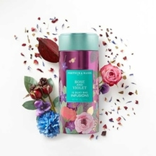 A classic Fortnum's flavour combination – and an ideal partner to a box of our famous chocolate of the same name – the deep floral aroma and subtle sweetness of our Rose & Violent Infusions Tea is an oh-so-English delight.  Contains 15 Silky Tea Bags