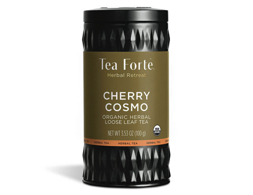 The deliciously relaxing taste of sweet plump cherries with a fragrant delighting of hibiscus blossoms and faint whispers of raspberry. Your purchase helps protect fragile ecosystems. Contains 3.17 oz.   Ingredients organic rosehips, organic hibiscus, organic apple pieces, organic raspberries, natural flavors