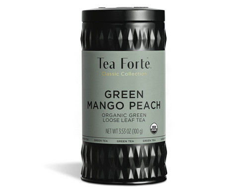 Superior green tea leaves blended with cooling peppermint leaves, the heady nectar of mangos and the lush, succulent sweet taste of peach for a sunny indulgent cup.