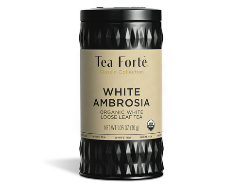 "Rarest Pai Mu Tan white tea is a plucked in early spring from a special varietal tea bush called ""chaicha"". Blended with fragrant Madagascar vanilla and the tropical tease of island coconut. Delicate, refreshing and divine. Contains 1.75 oz  Ingredients white tea, coconut chips, safflower, natural flavors"