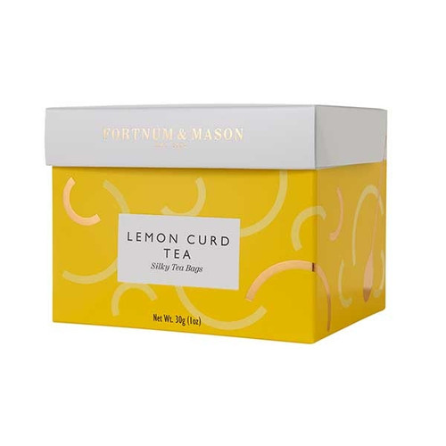 Fortnum's has been making Lemon Curd for almost as long as we've been selling tea. Now we've combined the two in glorious fashion to create a naturally smooth and zingy Lemon Curd Tea perfect for sipping.  Every silky tea bag is specially packed in an envelope to be enjoyed anywhere at anytime.