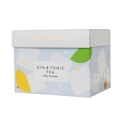 Enjoy a G&T without the consequences. We've combined green tea with real juniper berries and handpicked botanicals including coriander, fennel and lemon balm to create our refreshing Gin & Tonic Tea topped offer with fresh lime and cucumber. All that's missing is the gin itself.  Every silky tea bag is specially packed in an envelope to be enjoyed anywhere at anytime.