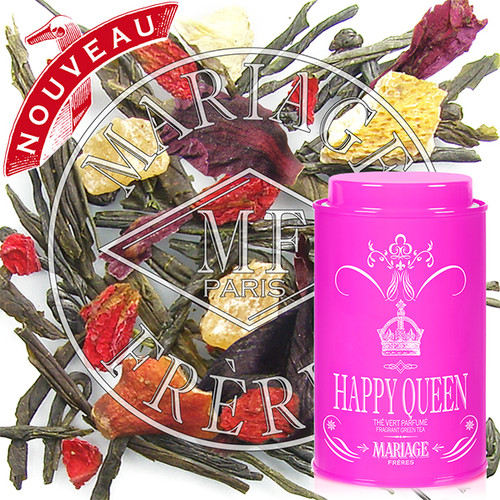 For the Queen, a citrusy green tea with pomegranate flowers, orange peel, a dash of candied pineapple and peony petals.   Perfect for Mother's Day, to celebrate a birthday, or as a token to one's sweetheart or best friend – behold a new royal present.