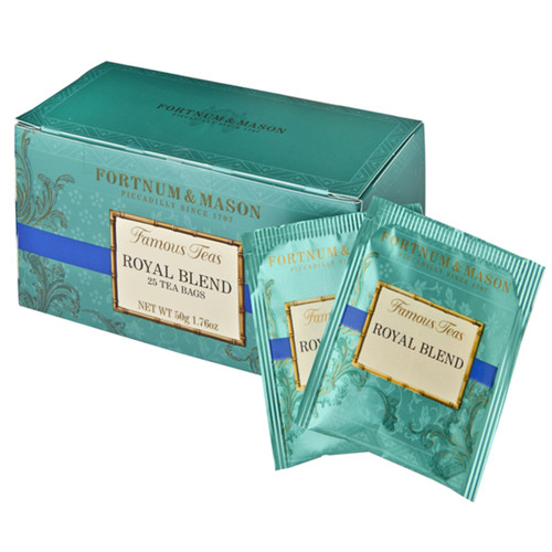 In this classic Royal Blend notes of Flowery Pekoe from Ceylon uplift the maltier Assam to create a very traditional cup of tea. First blended for King Edward in 1902, Fortnum's Royal Blend has been popular ever since for its smooth, honey-like flavour.