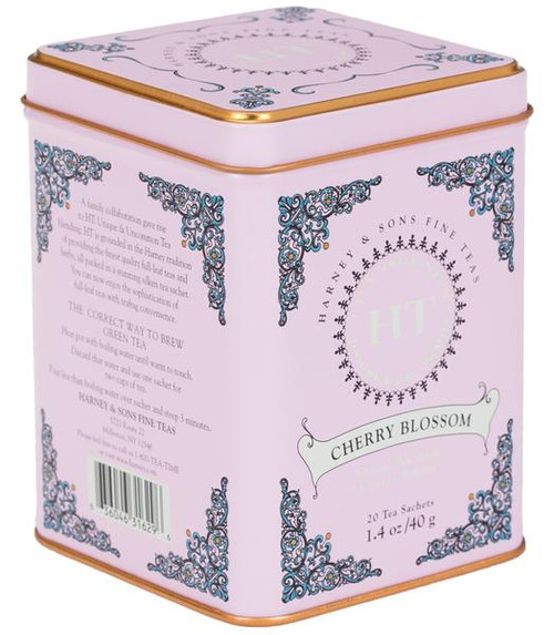 Blend of green teas and the vibrant flavor of plump, fragrant cherries.  Each sachet brews a 12 oz cup.