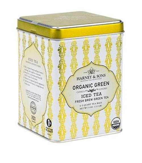 A hand-picked organic green tea from Southern India. This refreshing blend delivers the benefits associated with green tea and ginkgo, with a dash of lemongrass, along with the bright taste of natural citrus. Exceptional when served as iced tea in summer. Kosher.  Ingredients: Organic green tea, organic lemongrass, organic ginkgo, organic citrus oil, natural citrus flavor.