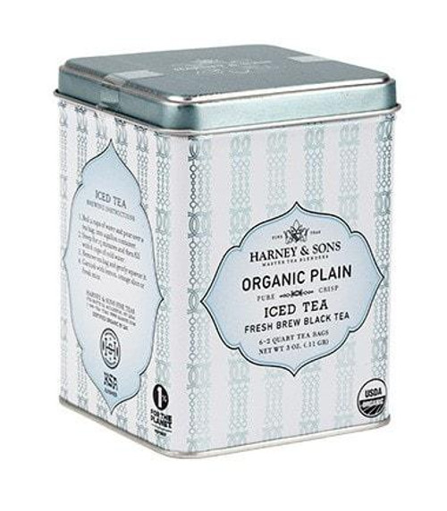 Our hand-picked full leaf Organic Chinese black tea is a classic – tried and true. Sweet in taste, rich in body, bright and clear in color. Simply perfect on hot summer days. Tin of 6 easy to brew pouches. Each pouch brews 2 quarts. Kosher.