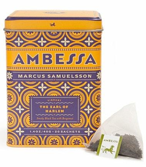 Citrusy layers, bergamot and floral aromas mingle with lingering smoky base notes for a rich and fragrant finish. Tea sachets, tin of 20.