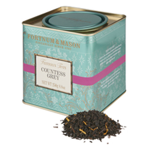A twist on the traditional bergamot-infused blend, Countess Grey is based on well-twisted orange pekoe teas, lifted by classic bergamot and a light orange flavour. Its light and delicate character makes it ideal for morning or afternoon drinking, when the spirits require a little reviving.