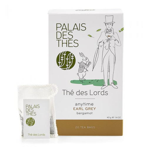 Thé des Lords is a very attractive Earl Grey with a strong bergamot scent, enlivened by safflower petals. Of all the Earl Grey teas this is the one most flavoured with bergamot.    black tea (Sri Lanka, China) (97%), bergamot flavour (2%), safflower petals