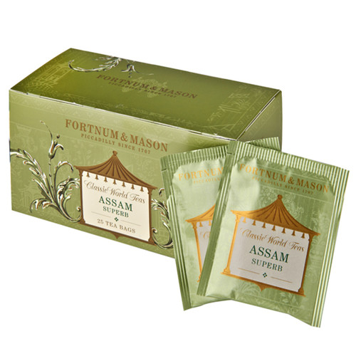 Assam tea, indigenous to India's steamy Brahmaputra Valley, is one of the world's oldest varieties. The aptly named Assam Superb has the rich, dark liquor and smooth, round, malty flavour prized by the connoisseur. Full body and flavour at any time of the day.