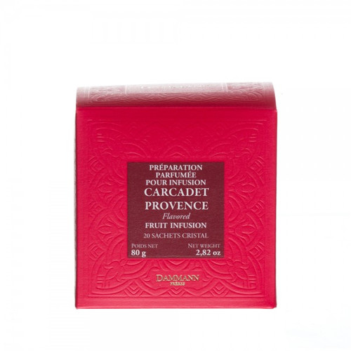 Blend of hibiscus flowers, apple pieces, rosehip peels and orange peels deliciously perfumed with peach and apricot flavors. Box of 20 Cristal® sachets. Net weight: 80 g / 2,81 oz  Dominant note: Orchard fruits Type(s) of tea: Fruit infusion Main flavour: Hibiscus Complementary flavour(s): Apricot, Peach