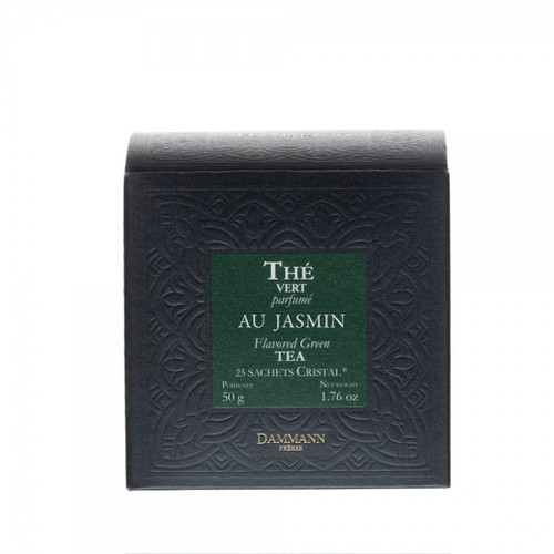 Among China's most celebrated flower tea compositions, this jasmine tea provides a beautiful balance between a full-bodied green tea and the white flower's sweet and delicate fragrance. This is the ideal tea to drink with Chinese food. Box of 25 Cristal® teabags Net weight: 50 g / 1,76 oz  Dominant note: Plain Type(s) of tea: Green tea