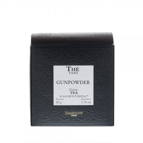"Gunpowder to the Westerners, or more poetically ""tea pearls"" for the Chinese, this lively and astringent tea makes a fresh, thirst-quenching cup of tea. This tea is traditionally used to make the famous mint tea. Box of 25 Cristal® teabags Net weight: 50 g / 1,76 oz Dominant note: Plain Type(s) of tea: Green tea"