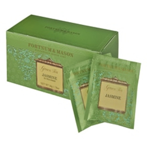 Dawn-picked jasmine flowers open towards the end of the day to release their heady scent. This carefully selected green tea is allowed to absorb this natural scent, producing an orangey-gold liquid with a delicate taste and alluring fragrance. A superbly fragrant tea by Fortnum's.