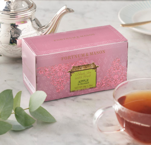 This is a warmly refreshing drink made with predominantly China black tea flavoured with the most English of fruits. Both sweet and tangy, this wonderful Fortnum's black tea infused with crisp apple is ideally served at any time of day.