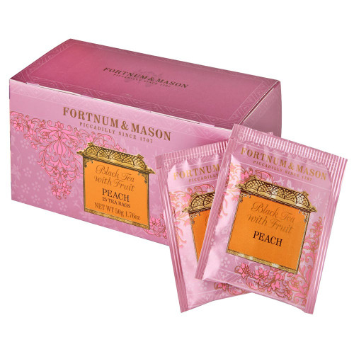 Real fruit pieces and a carefully selected blend of predominantly China teas make this an appealing and naturally sweet beverage any time of the day. Fortnum's Black Tea with Peach also makes a lovely iced tea, when flavoured with a sprinkle of sugar.