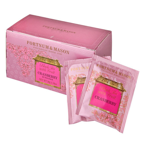 This invigorating black tea is infused with a delicate fruit flavour to make a gentle but effective pick-me-up. This Fortnum's Black Tea with Cranberry brew is predominantly China tea with a light, smooth liquor which perfectly complements the cleansing tang of cranberry.