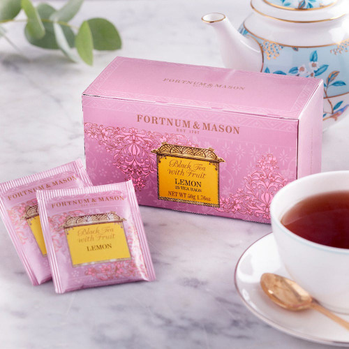 We have infused Sicilian lemons in China tea to create this Fortnum's Black Tea with Lemon. Adding a touch of zing to a classic black tea with a deep aroma and generous flavour, this tea can be appreciated either warm or iced.