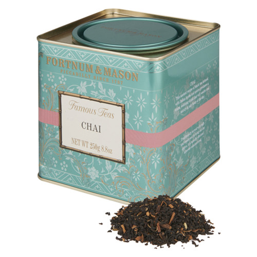 Fortnum's Chai Loose Tea is made following an ancient recipe where black tea is infused with Indian herbs and spices to produce a warm, soothing drink that will satisfy and please. Enjoy this luxurious blend with a dash of milk for an experience truly exquisite.