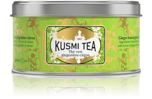 GREEN TEA FROM CHINA WITH GINGER AND LEMON Iced ginger-lemon green tea is the perfect refreshment for any time of day. Its ginger notes give this blend a delicately spicy flavour that blends beautifully with the tanginess of lemon.  Infusion time 3-4 min  Infusion temperature 75-80°C  Perfect for iced tea  INGREDIENTS  Green tea  Flavourings