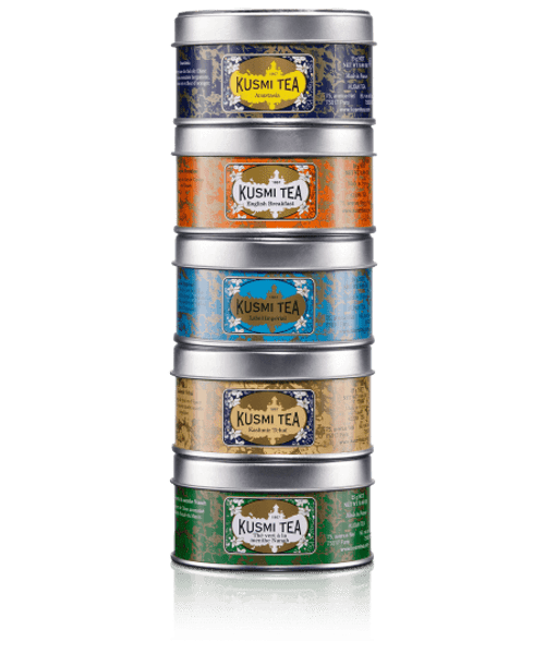 The Brunch blends assortment of mini tins is the perfect accompaniment to any sweet or savoury meal. An assortment of three exclusive Russian blends: Anastasia, a blend of Earl Grey, lemon and orange blossom; Kashmir Tchai, a blend of black teas with spices based on the traditional Nepalese recipe; and Imperial Label, a subtle blend of green tea, cinnamon and liquorice. Those who love full bodied teas will delight in English Breakfast, with its blend of black teas from Ceylon and Assam. You will love the refreshment of Spearmint green tea after a meal.