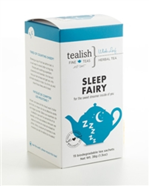 FOR THE SWEET DREAMER INSIDE OF YOU!   Tired of counting sheep?  Brewing a cup of hot tea before bed is a sure way to unwind after a long day. Packed with soothing superstars chamomile and lavender, this tea will help you feel at ease and get you into ultimate relaxation mode. So drink up and show those sheep who's boss. .   Part of Love Yourself Wellness Tea Collection - great tasting, soul soothing and delightfully satisfying! .   Box contains 15 biodegradable, silken pyramid teabags.    BREWING INSTRUCTIONS: This tea is best steeped in boiling water. Use 1 teabag per mug, steep 4-6 min.   INGREDIENTS: lemongrass, apple bits, vervain, green rooibos, chamomile, lavender, orange pieces, flavouring, vanilla bits.