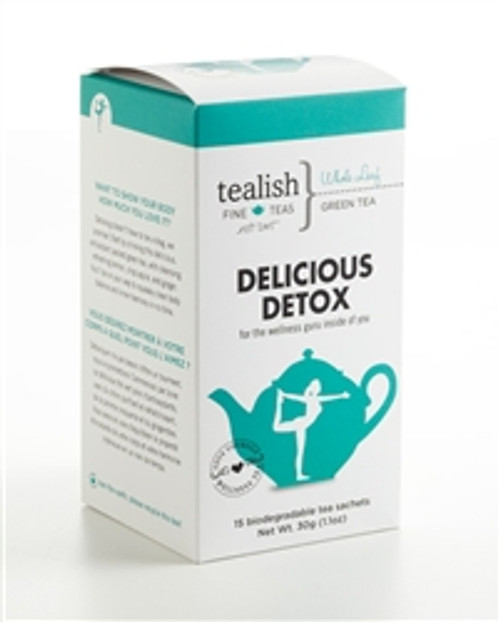 FOR THE WELLNESS GURU INSIDE OF YOU!  Want to show your body how much you love it?  Detoxing doesn't have to be a drag, we promise! Start by drinking this delicious, antioxidant packed green tea, with cleansing refreshing lemon, crisp apple, and ginger. You'll be on your way to squeaky clean body balance and inner harmony in no time.   Part of Love Yourself Wellness Tea Collection - great tasting, soul soothing and delightfully satisfying!   Box contains 15 biodegradable, silken pyramid teabags.     BREWING INSTRUCTIONS: This tea is best prepared with water below boiling, approximately 80 degrees. Use 1 teabag per mug, steep 1-3 min.   INGREDIENTS: Sencha green tea, lemon verbena, ginger, lemon myrtle, apple bits, flavoring, calendula petals.