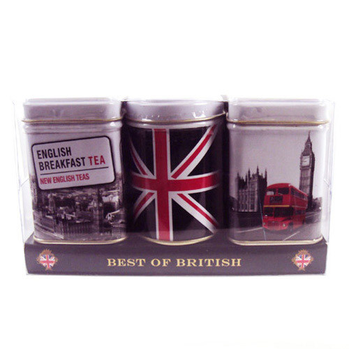 These Best of British Mini Tins are perfect for storing loose-leaf tea and will look fantastic on any kitchen shelf.  Each tin contains a different blend of loose-leaf tea and with quintessential British designs on each tin; these are a wonderful gift for any patriotic tea-lover.