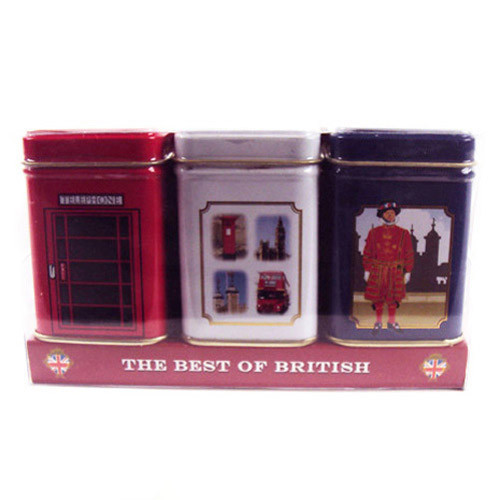 These beautiful Englands Favourites Heritage tins are not only lovely to look at but are filled with fine English tea.  They depict a telephone box, a beefeater and scenes of London. Lovely to keep for yourself or give as a gift to a special 'someone'.  They would look great on any kitchen counter.