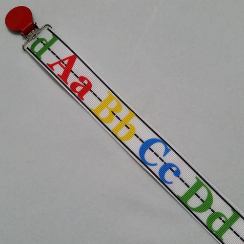 ABCD Adult Pacifier Clip
