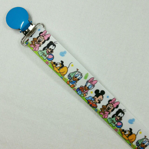 Baby Mickey, Minnie & Friends Adult Pacifier Clip