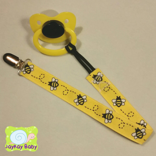 Bumblebees Adult Pacifier Clip
