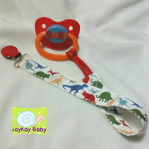 Dinosaurs Adult Pacifier Clip