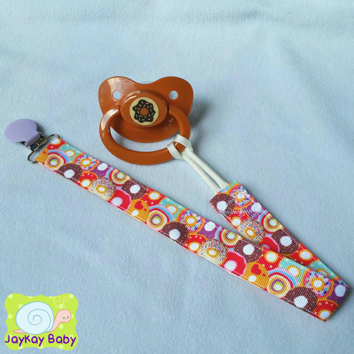 Donuts Adult Pacifier Clip