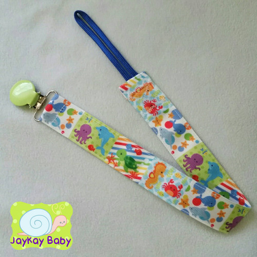 Fun Under The Sea Adult Pacifier Clip