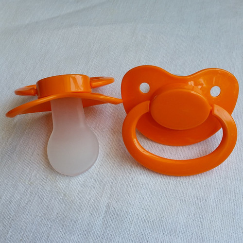 Orange Solid Adult Pacifier
