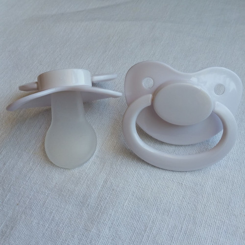 White Solid Adult Pacifier