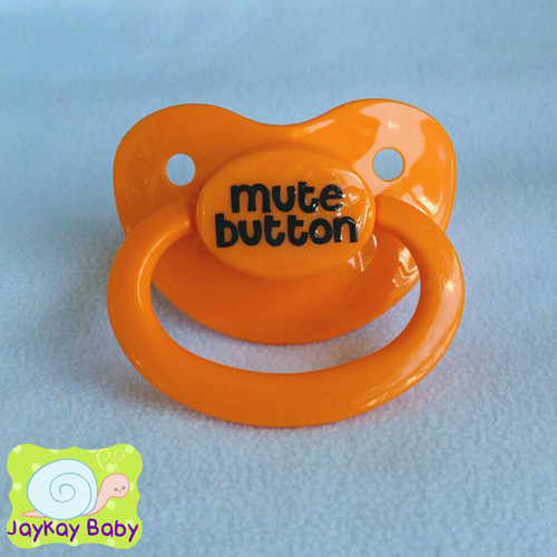 Mute Button Adult Pacifier
