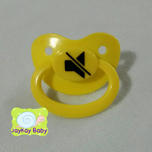 Mute Icon Adult Pacifier