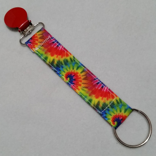 Tie Dye Convention Name Badge Clip