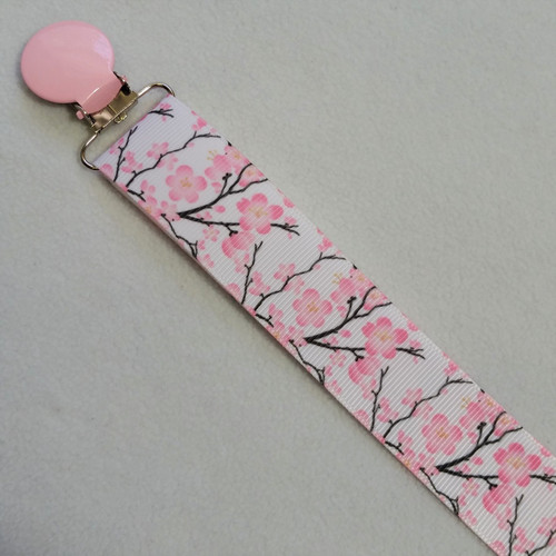 Cherry Blossoms Adult Pacifier Clip