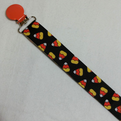Candy Corn Adult Pacifier Clip