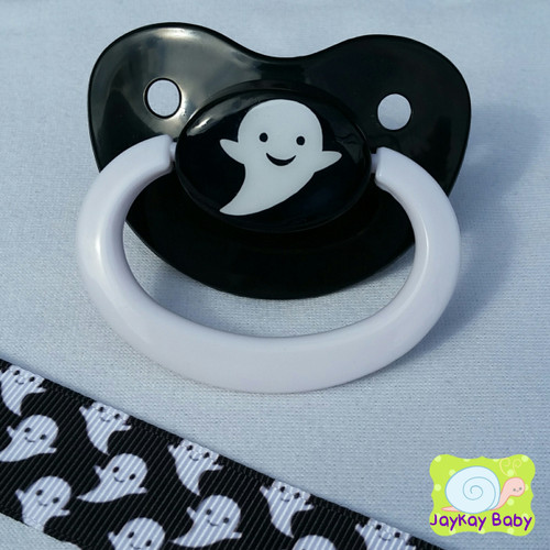 Spoopy Ghost Adult Pacifier