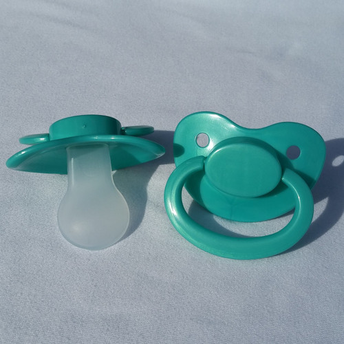 Shimmery Teal Solid Adult Pacifier