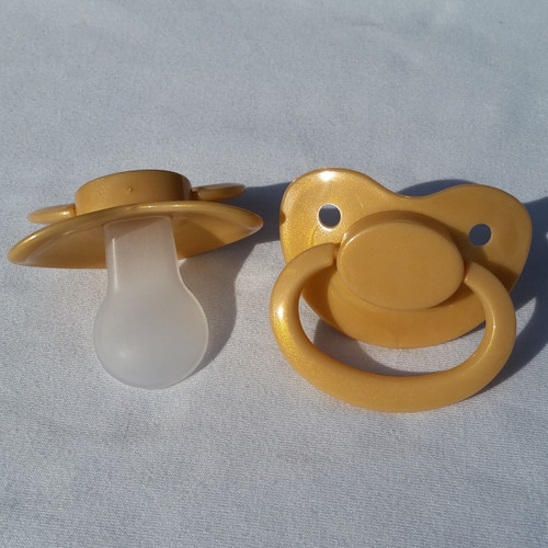 Shimmery Gold Solid Adult Pacifier