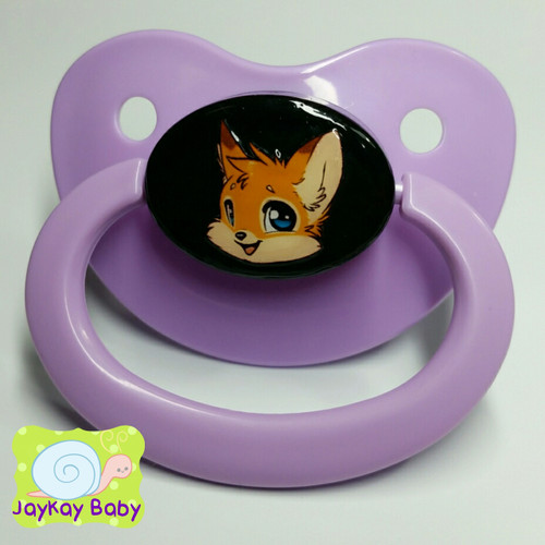 Happy Fox Printed Vinyl Adult Pacifier