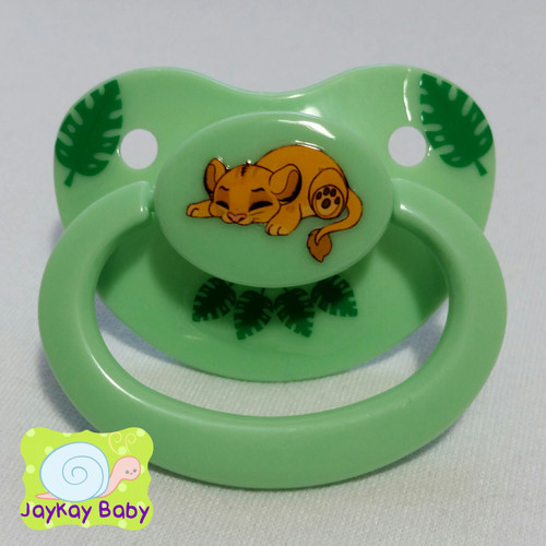 Simba Poof Printed Vinyl Adult Pacifier