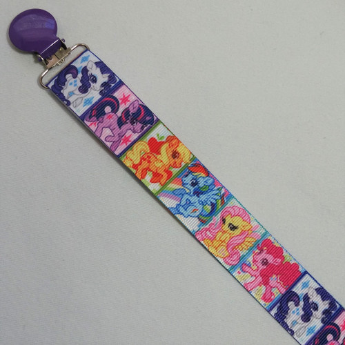 My Little Pony Squares Adult Pacifier Clip